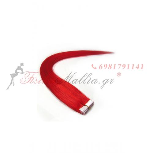 Χρώμα: κόκκινο. Στυλό αυτοκόλλητων ετι 55 Μαλλιά σε αυτοκολλητά 55 εκ.