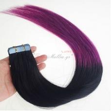 1/Purple - Ombre - μαλλιά σε αυτοκολλητά