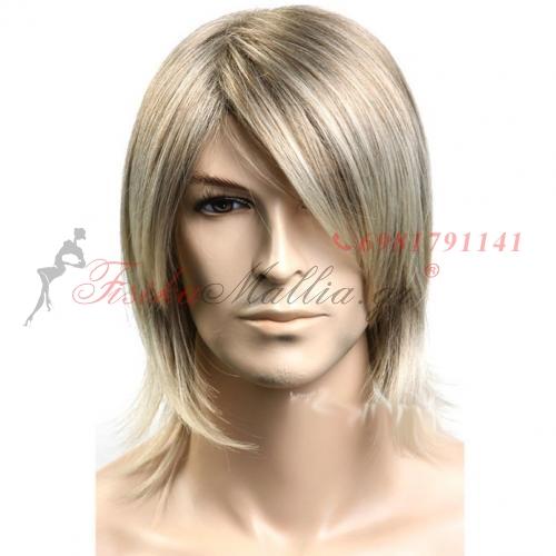 3. Мъжка перука от изкуствена коса