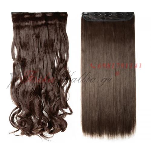 4 - Τεχνητά σγουρά ή ίσια μαλλιά Τεχνητά σγουρά και ίσια μαλλιά