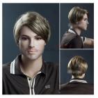 5. Мъжка перука от изкуствена коса