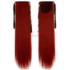 Color: dark red. Τεχνητή ουρά - κόκκινα μαλλιά