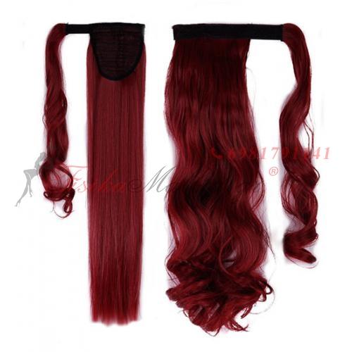 Color: oil red. Τεχνητή ουρά - κόκκινα μαλλιά  Τεχνητή ουρά