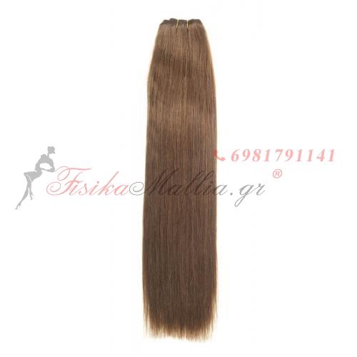 N 8: Φυσικά μαλλιά 45, 50 - 55 cm. Φάρδος της τρέσας 80 cm. Προσφορές