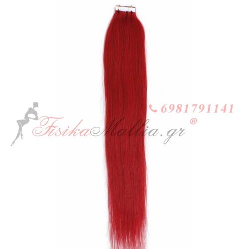 Ombre και έγχρωμα αυτοκόλλητα - κόκκινα  Μαλλιά σε αυτοκολλητά 45 εκ., 55 εκ., 65 εκ.