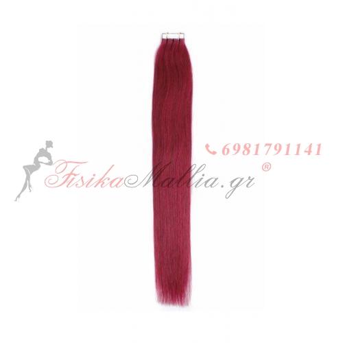 Ombre και έγχρωμα αυτοκόλλητα - σκούρο κόκκ&#  Μαλλιά σε αυτοκολλητά 45 εκ., 55 εκ., 65 εκ.